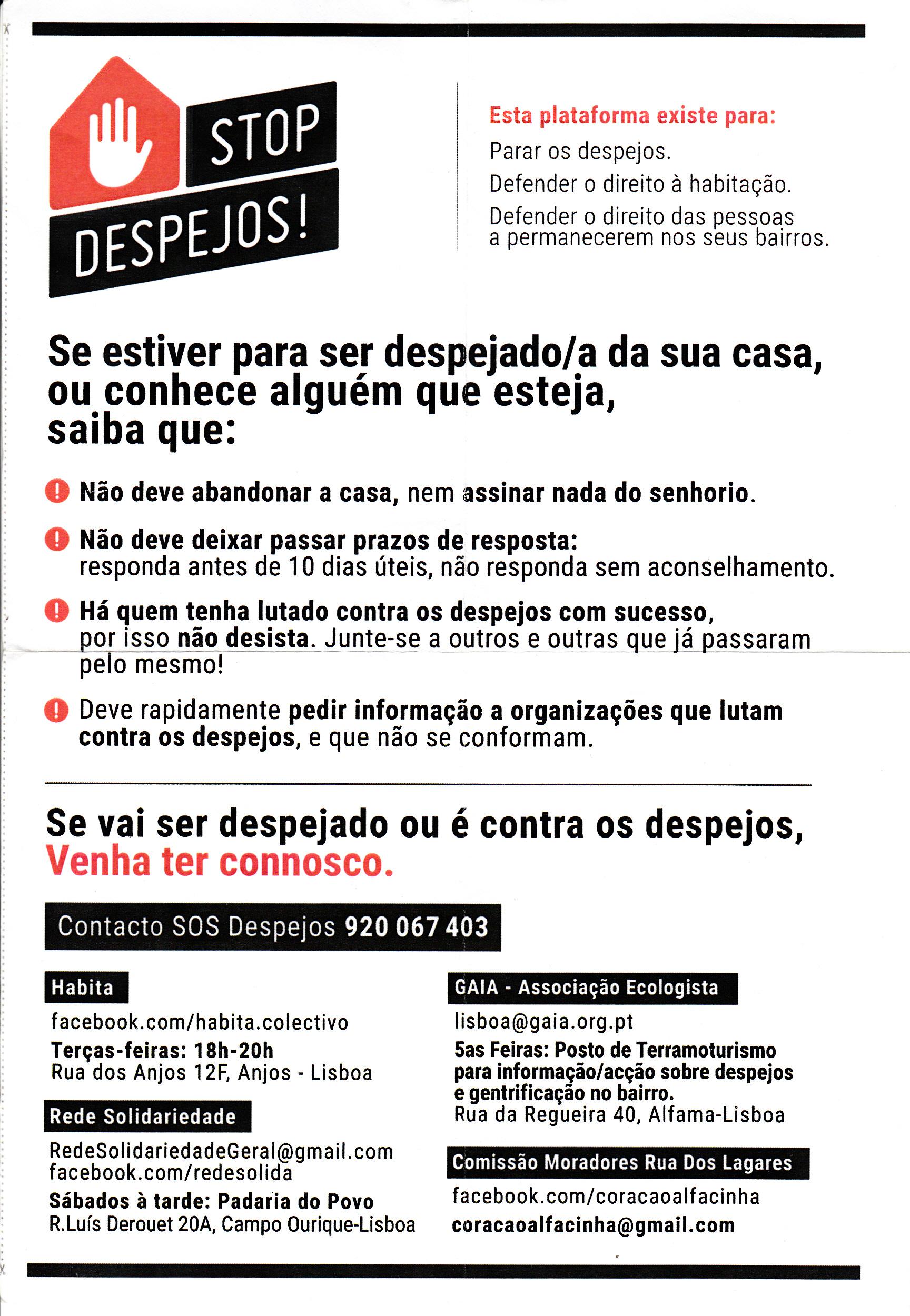 Stop_Despejos