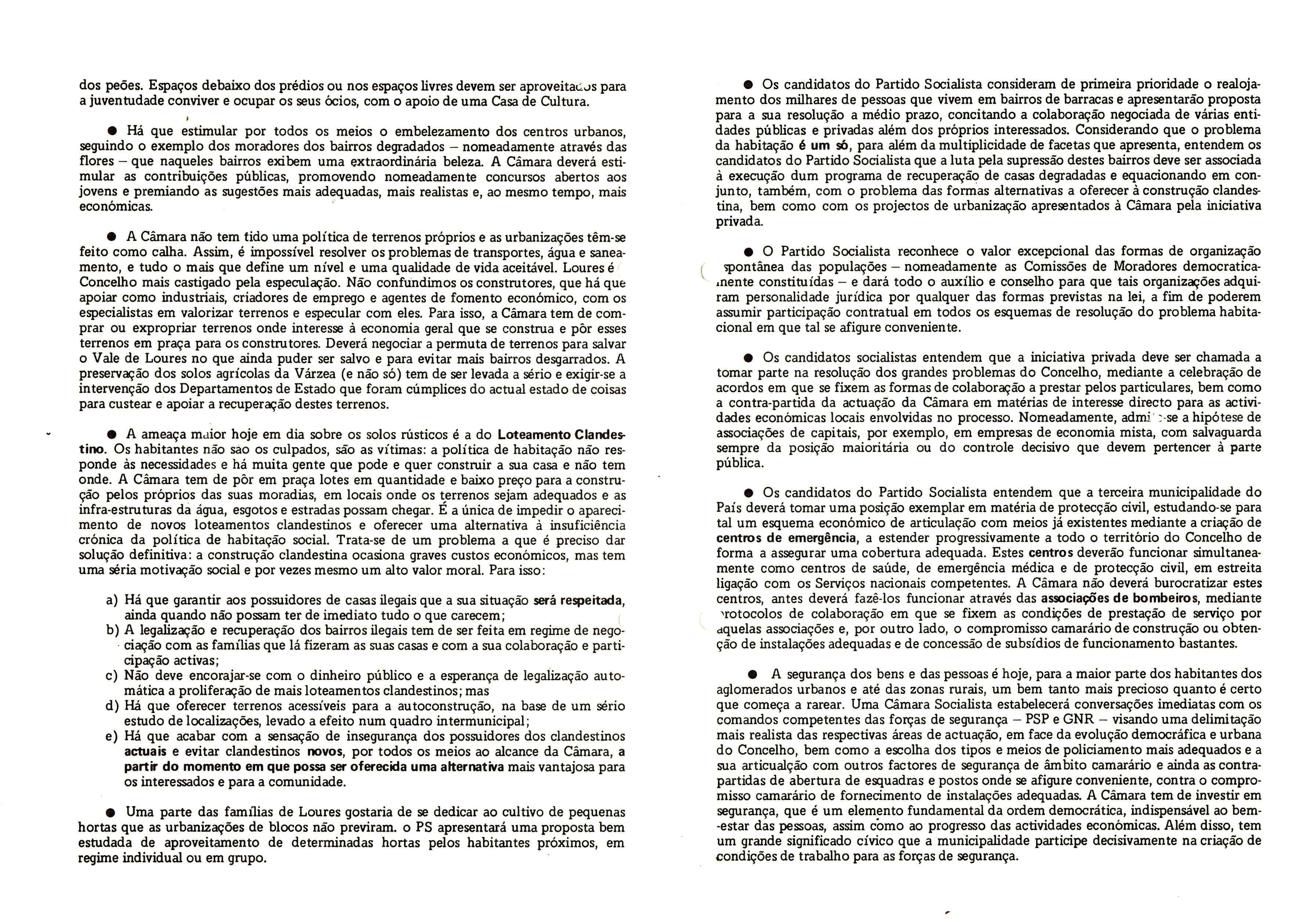 PS LOURES AUTÁRQUICAS 1982 ALGUNS PRINCIPIOS 2