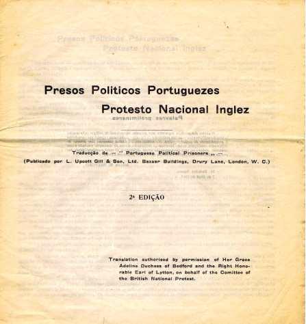 PRESOS POLITICOS PORTUGUESES PROESTO NAVIONAL INGLES 1