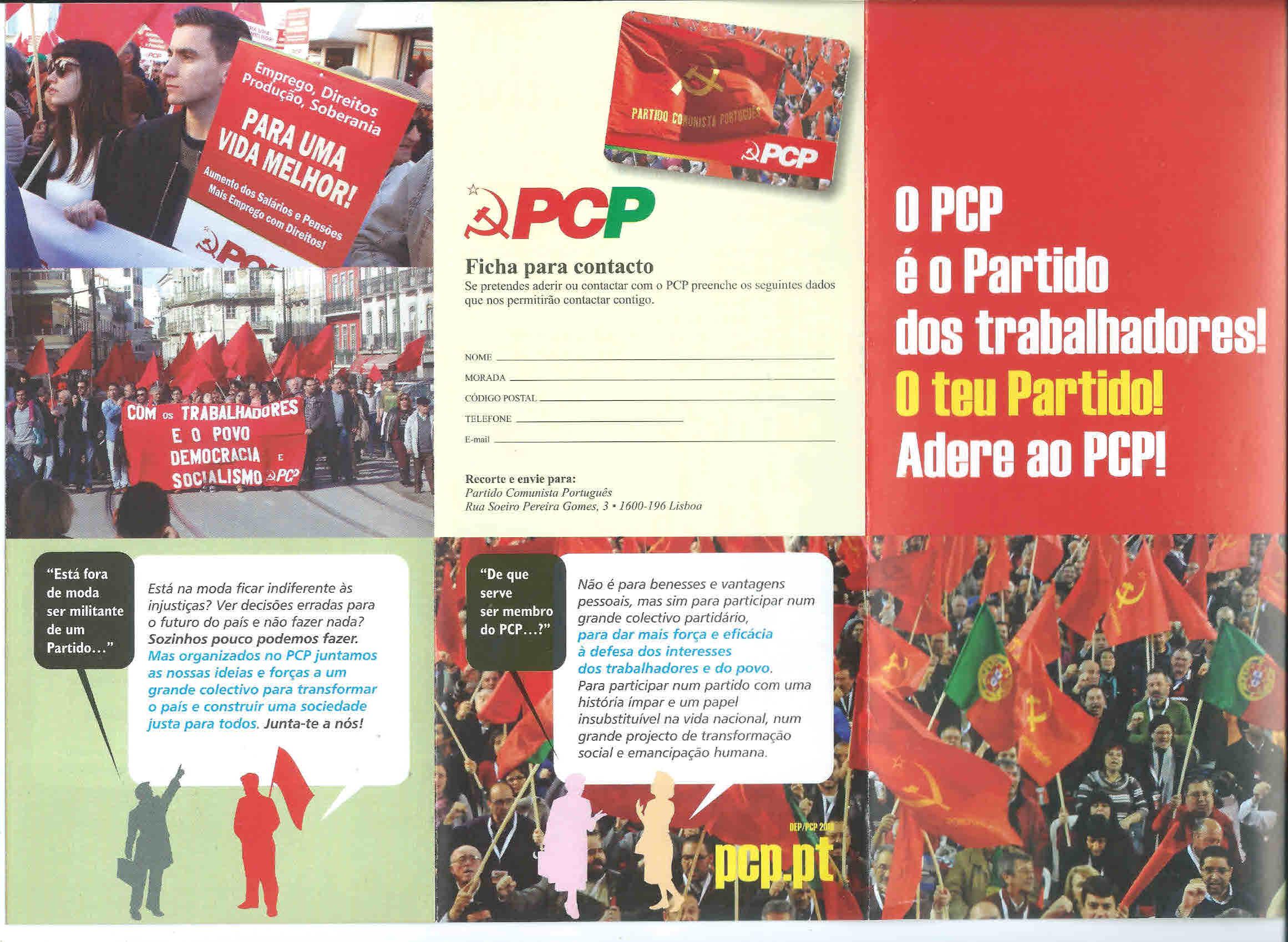 o pcp e o partido dos trabalhadores adere ao pcp 2016