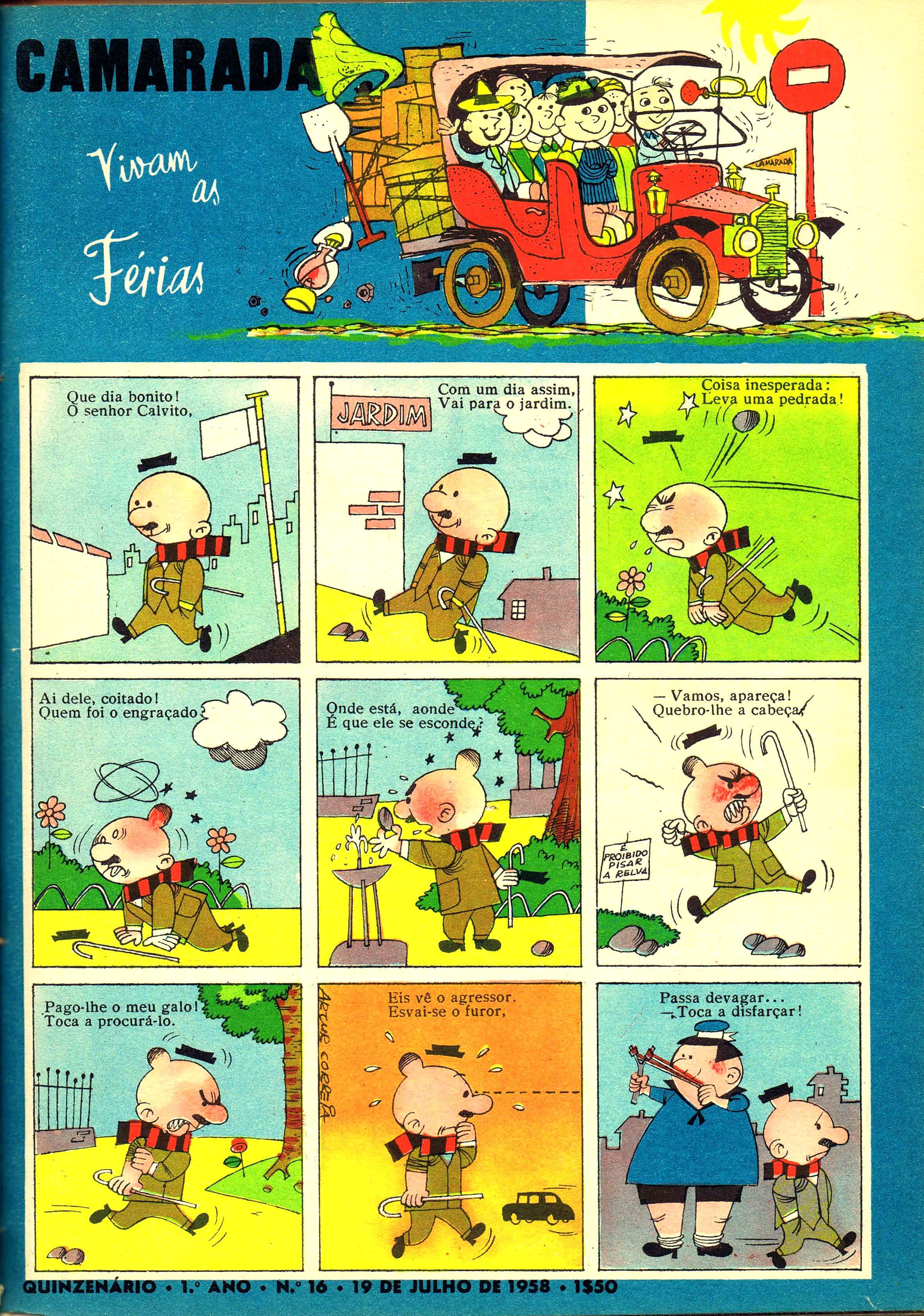 camarada mocidade portuguesa nº 16 1958