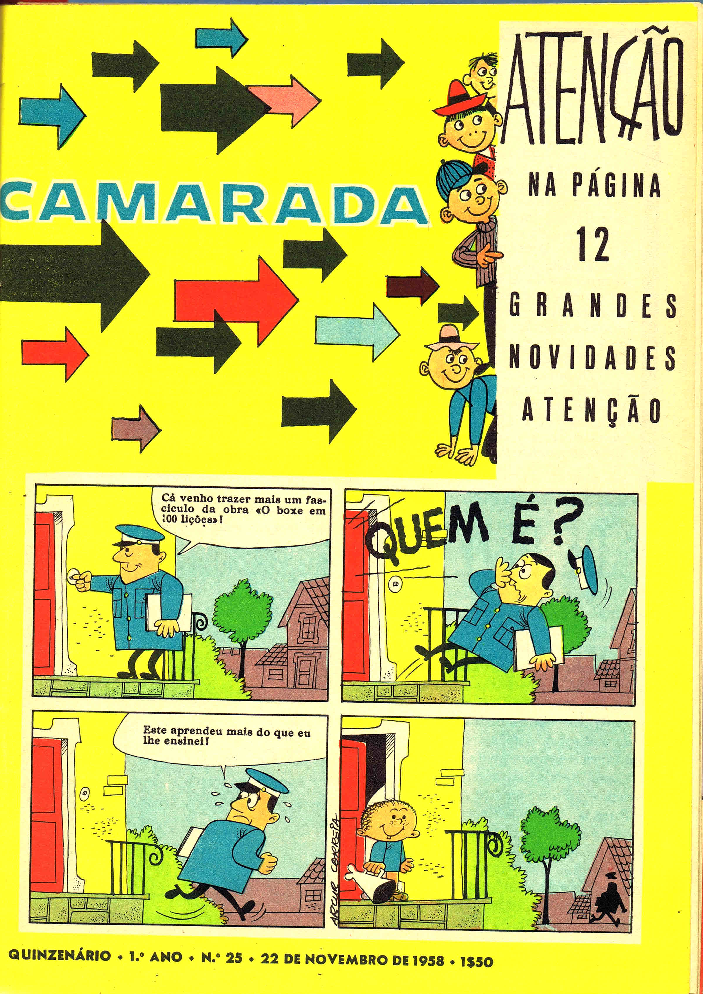 camarada mocidade portuguesa nº 25 1958