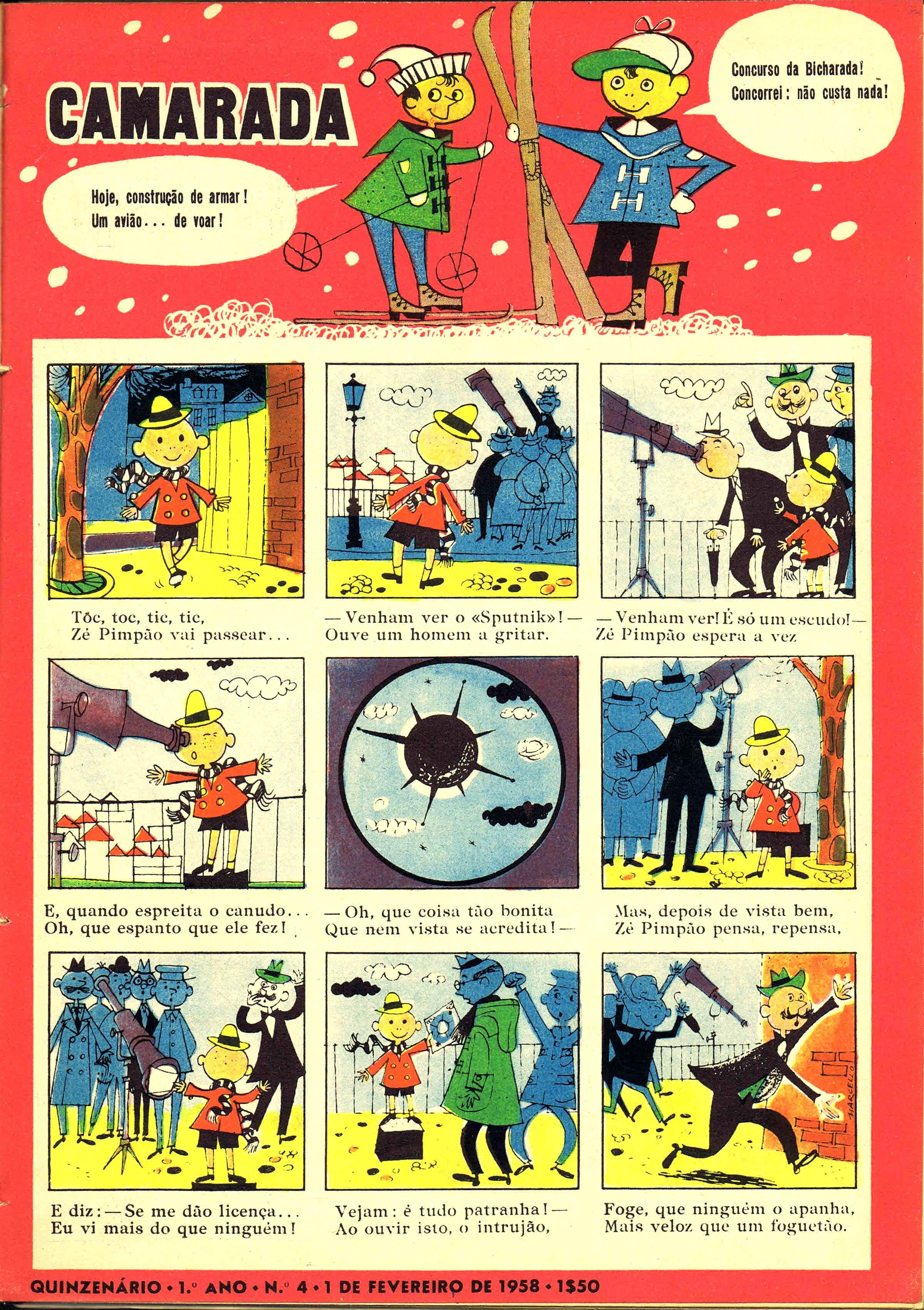 camarada mocidade portuguesa nº 4 1958