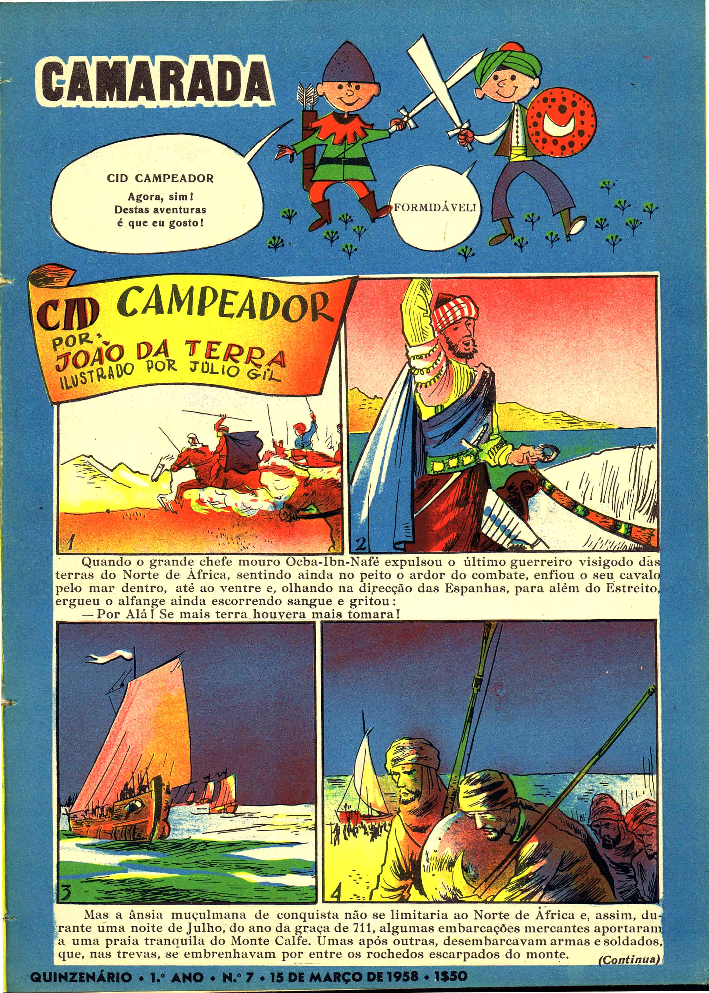 camarada mocidade portuguesa nº 7 1958