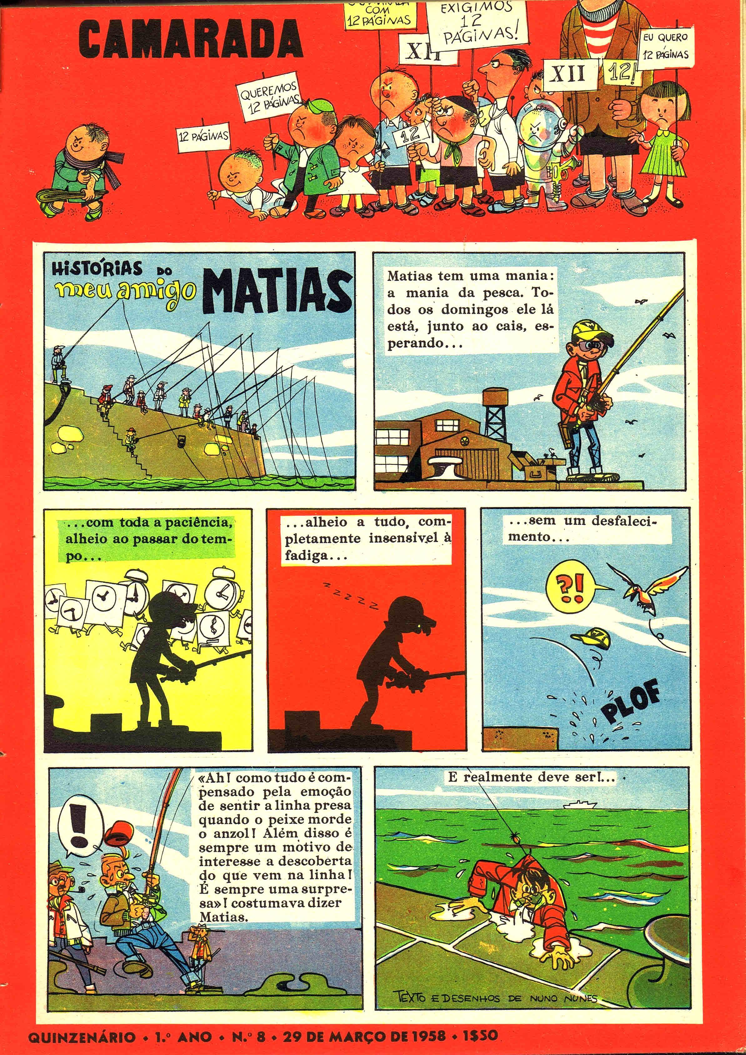 camarada mocidade portuguesa nº 8 1958