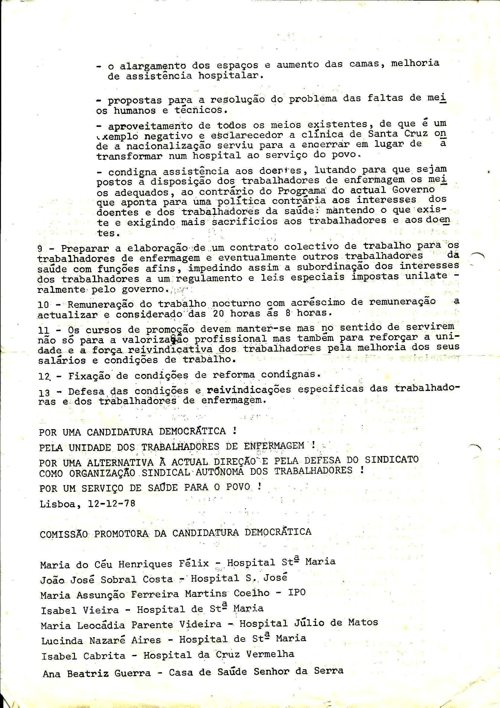2 Sind Enferm do Sul Eleiçoes Janeiro 1979 2