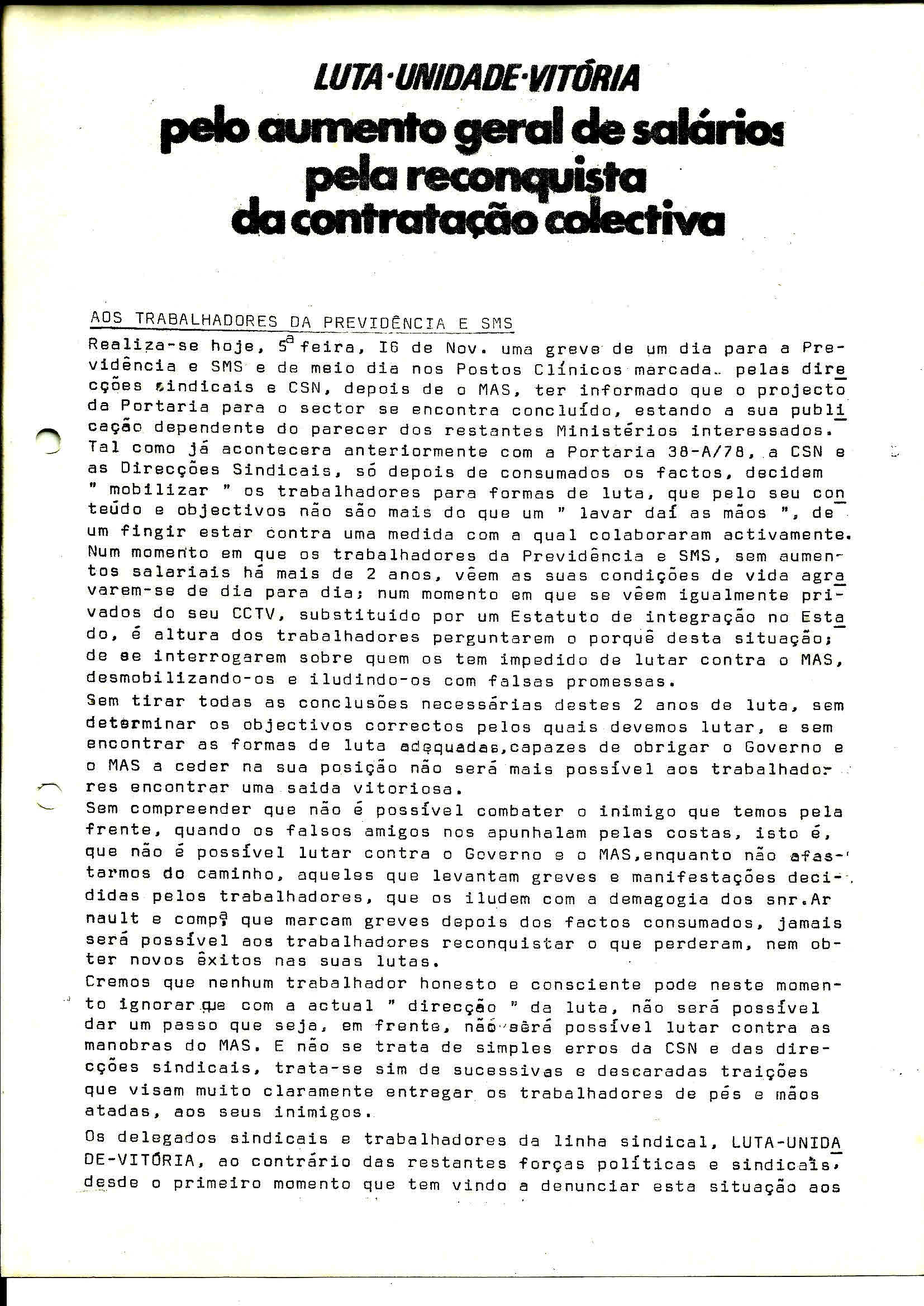 3 Sind Trab Previdência Aumento Salários Novembro 1978 1