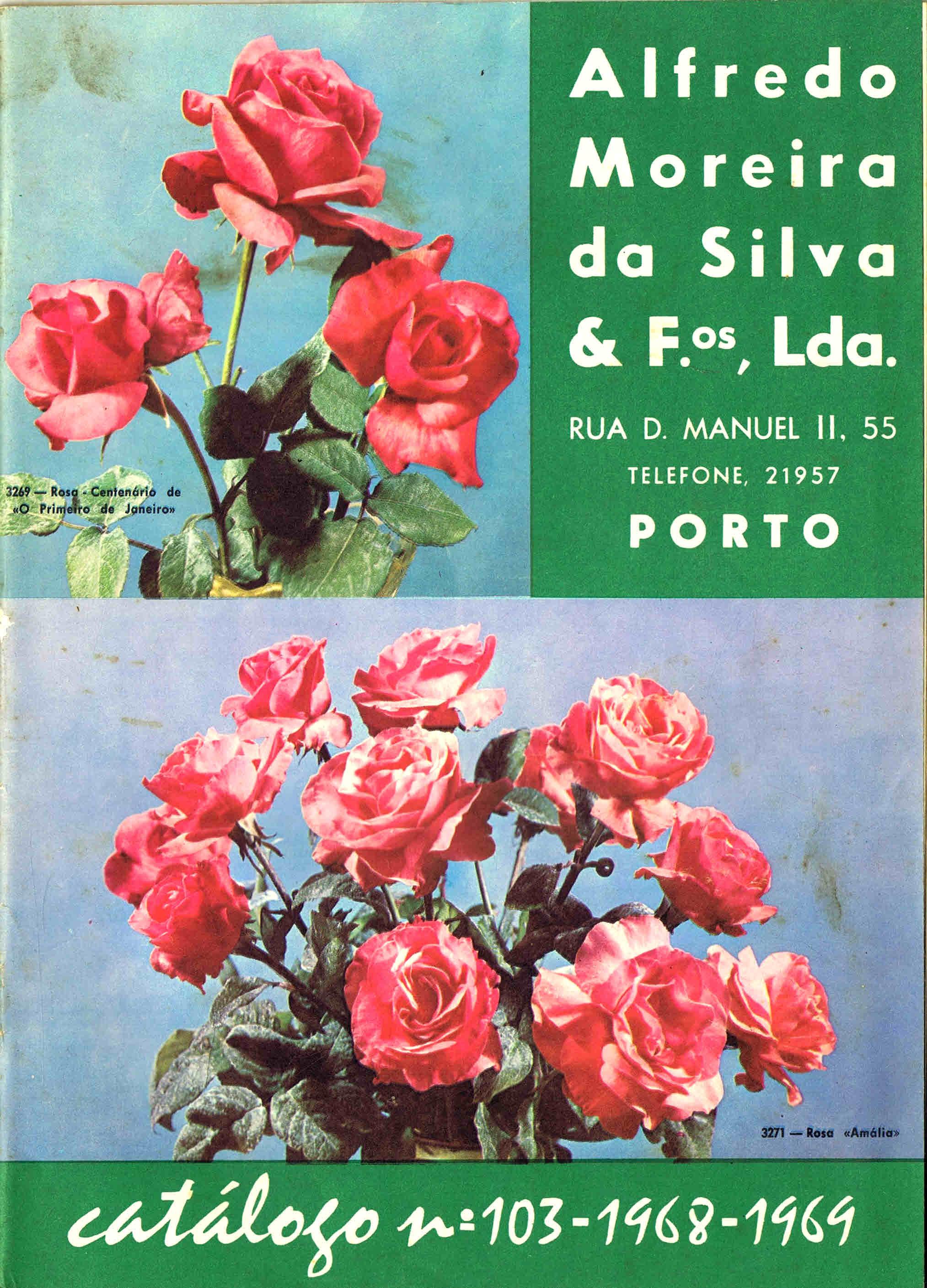 CATALOGO HORTICOLA MOREIRA DA SILVA & Fos Lda nº 103 1968-1969