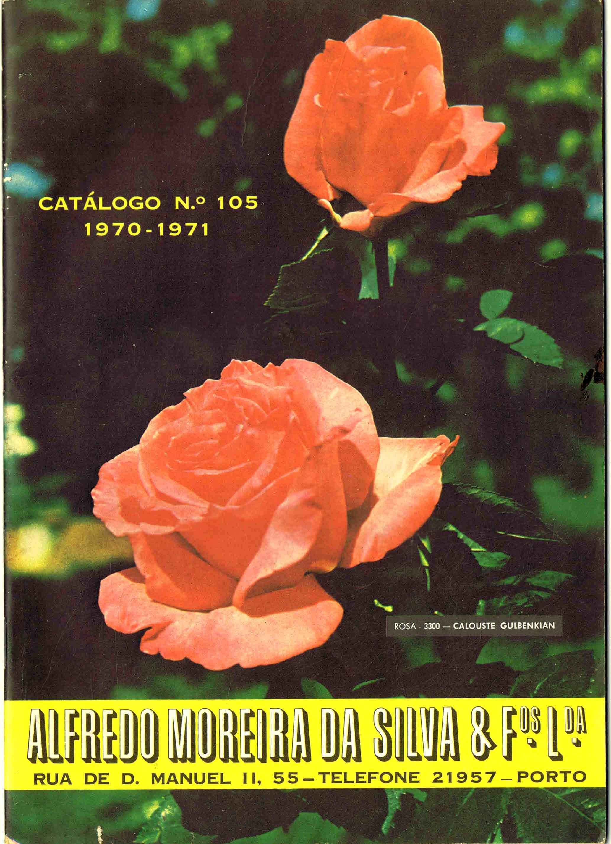 CATALOGO HORTICOLA MOREIRA DA SILVA & Fos Lda nº 105 1970-1971