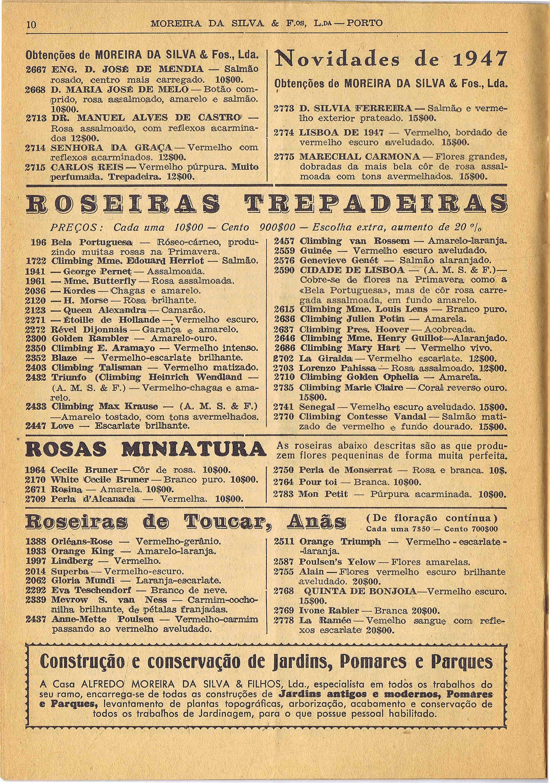 CATALOGO HORTICOLA MOREIRA DA SILVA & Fos Lda nº 83 1948 3