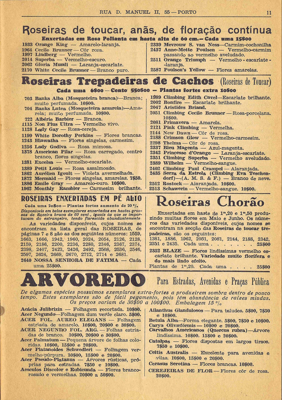 CATALOGO HORTICOLA MOREIRA DA SILVA & Fos Lda nº 83 1948 4