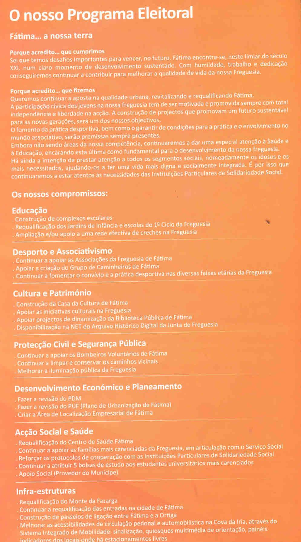 52a0f1b2aa2 ELEIÇÕES AUTÁRQUICAS DE 2009 – OURÉM – PSD – EPHEMERA – Biblioteca e ...