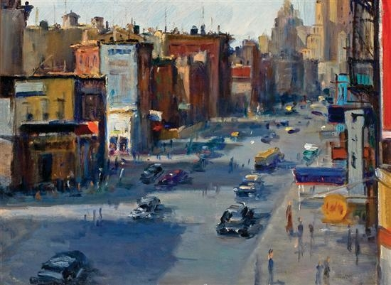 NYC El paintings   Ephemeral New York Alfredmiraseventhavenue