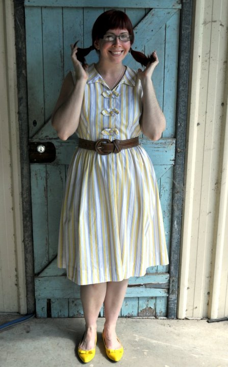 Day 1 – Frocktober 2011 – Lemon Stripe