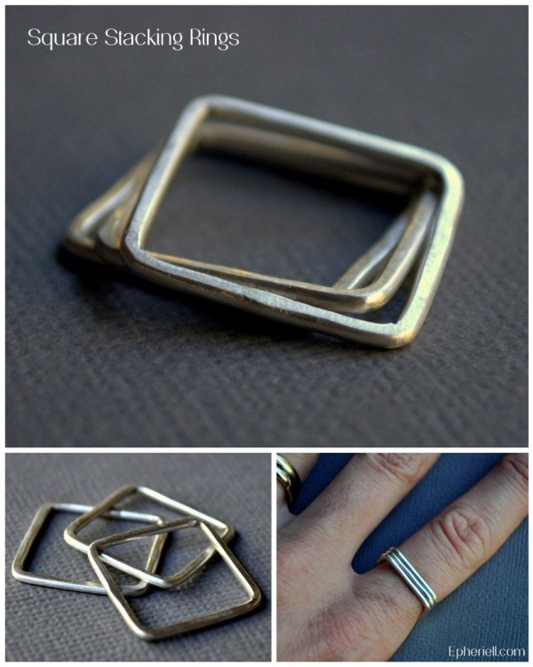 Weekly Special ~ Square Stacking Rings ~ 19/11/12