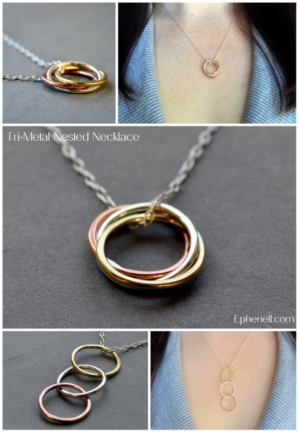 Tri-Metal Nested Necklace ~ Weekly Special 26/11/12