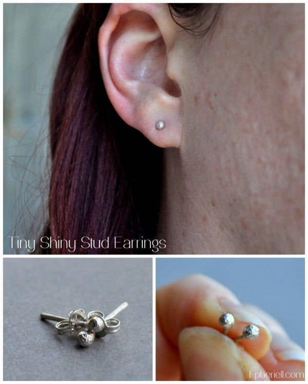 Tiny Shiny Stud Earrings ~ Epheriell Weekly Special {5/3/13}