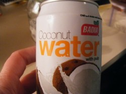 ~unsweetened coconut water~