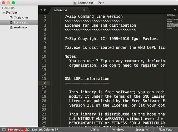 [Sublime Text] 使用 Word Count 套件計算檔案中的英文字數 | EPH 的程式日記