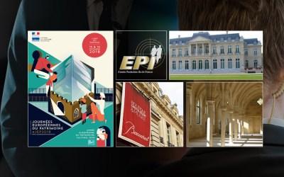 EPI aux côtés de partenaires prestigieux pour les Journées du patrimoine 2018