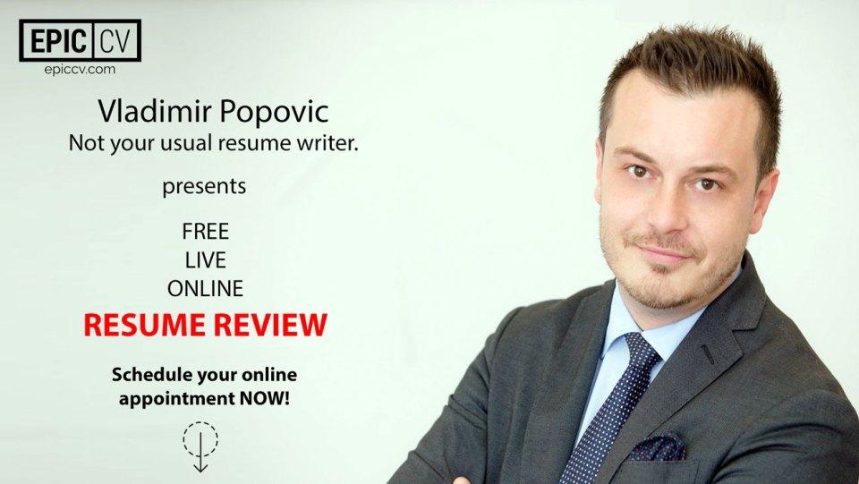 Resume Review Vladimir Popovic