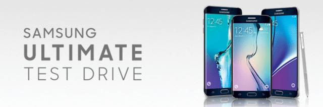 Samsung Test Drive Header
