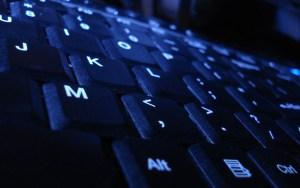 Blue Keyboard Closeup