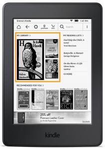 Amazon Kindle New Home Screen