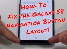 Samsung Galaxy S8 Navigation Layout