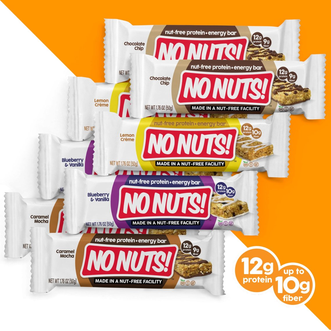 no nuts! protein flavors nut free and gluten-free protein bars