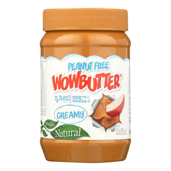 creamy wowbutter used for making a nut free protein shake