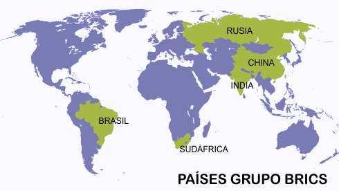 Países que conforman el BRICS.