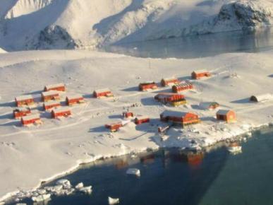 Base Argentina en la Antártida.