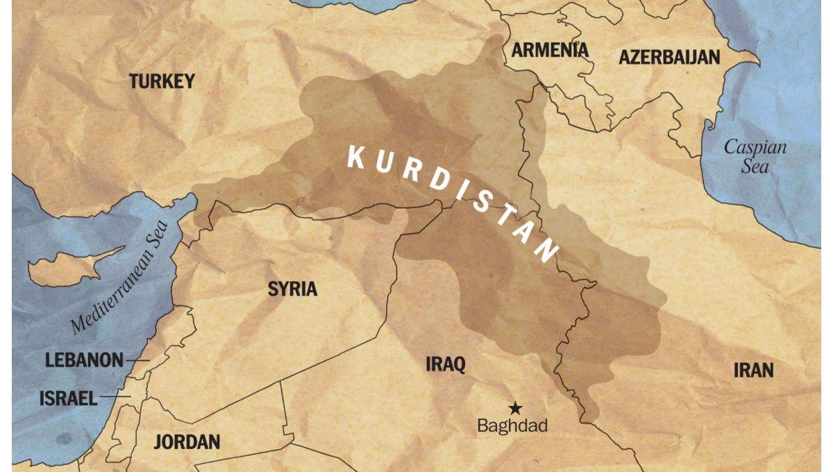 Territorios de Medio Oriente donde se encuentran los Kurdos