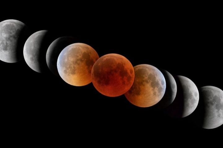 eclipse de luna, eclipse total de luna, luna roja de sangre