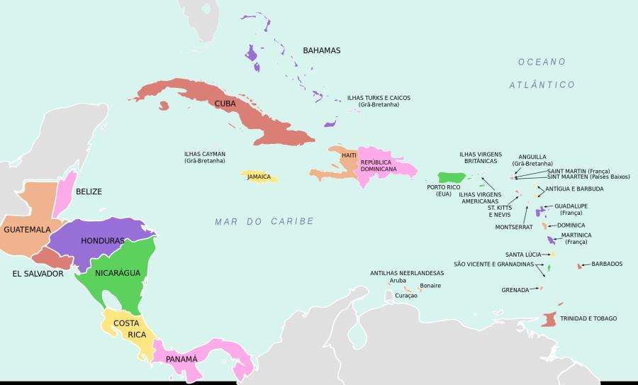 mapa america central Mapa America Central y Caribe – Epicentro Geográfico mapa america central