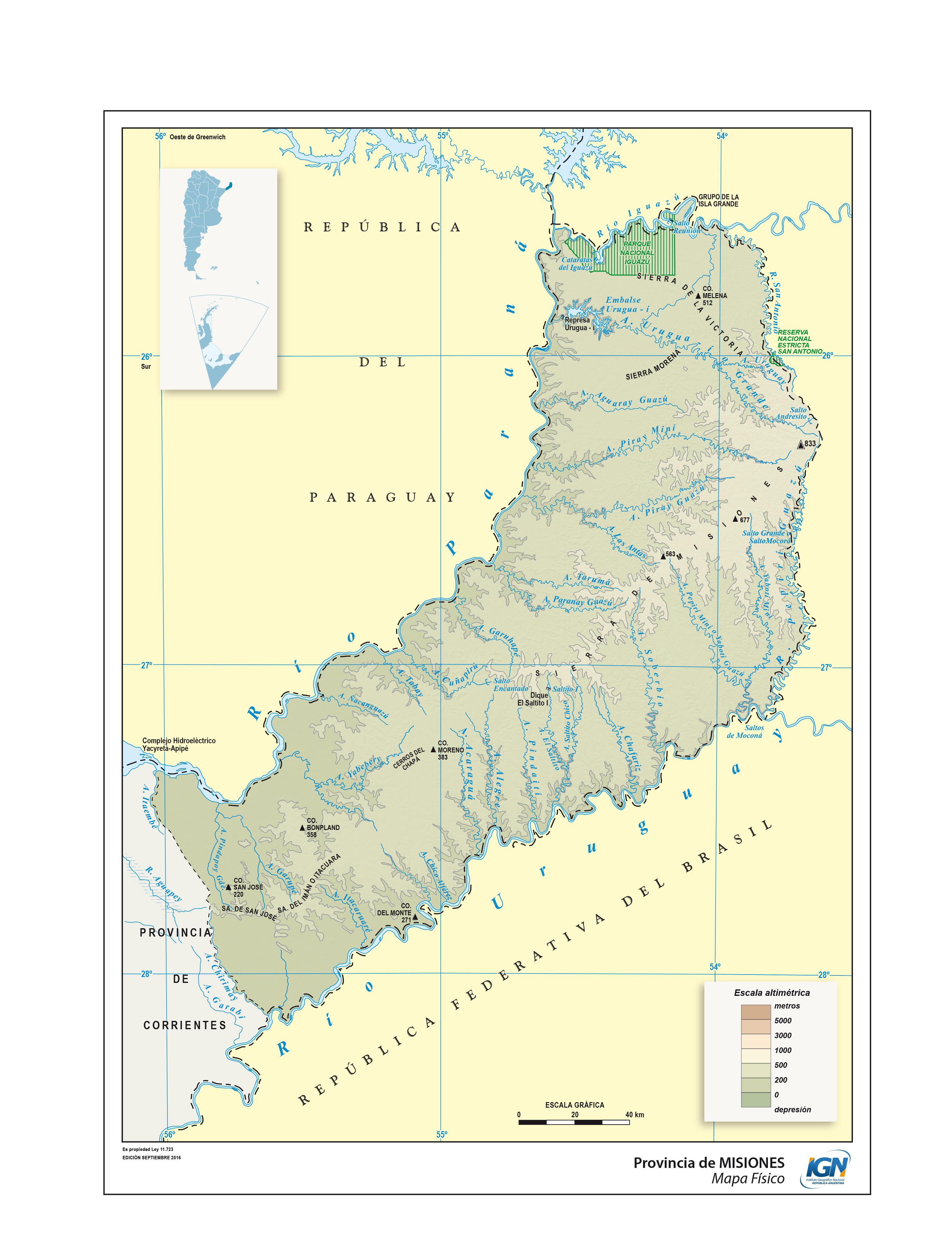 Mapas De La Provincia De Misiones Epicentro Geografico