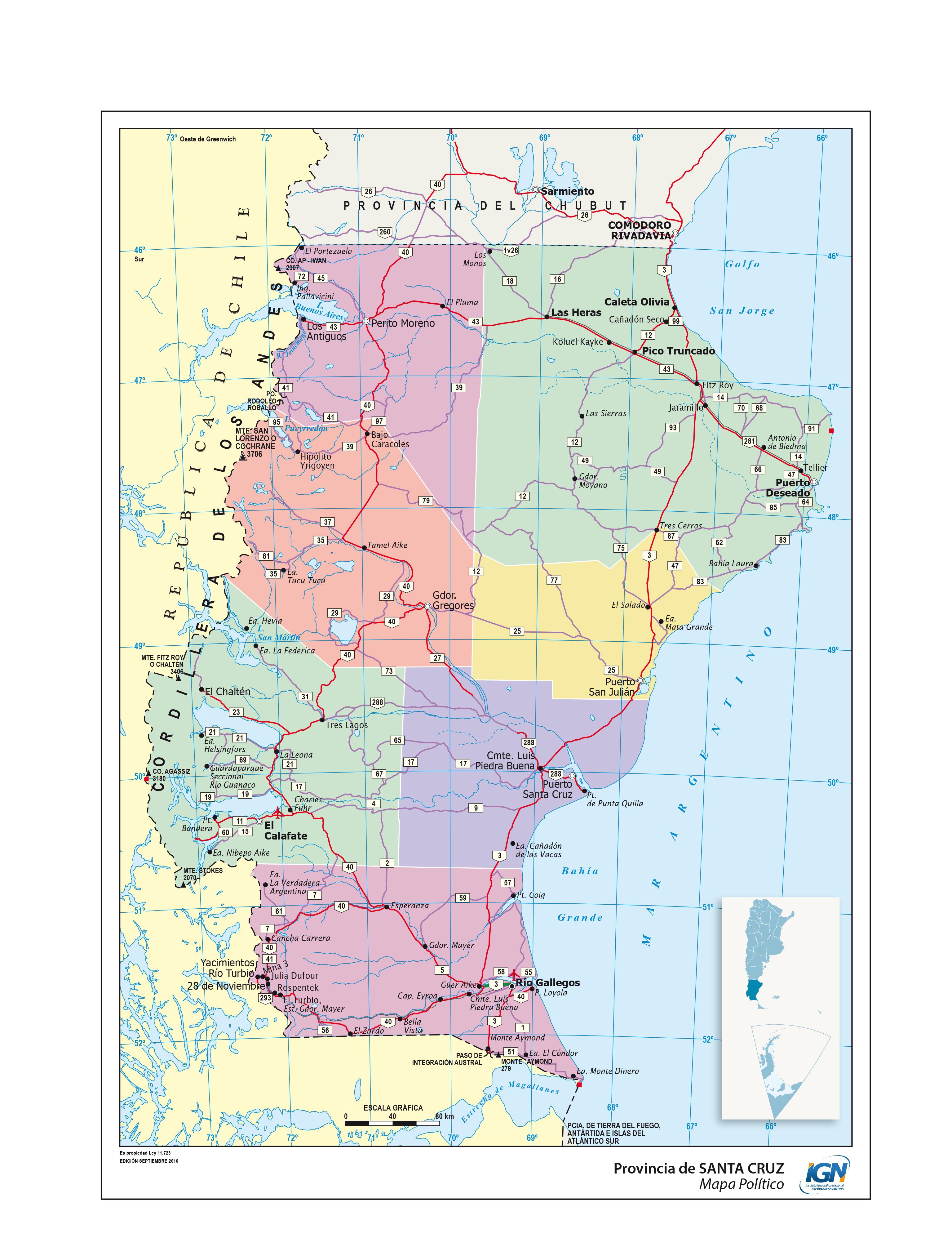 Mapas De La Provincia De Santa Cruz Epicentro Geografico