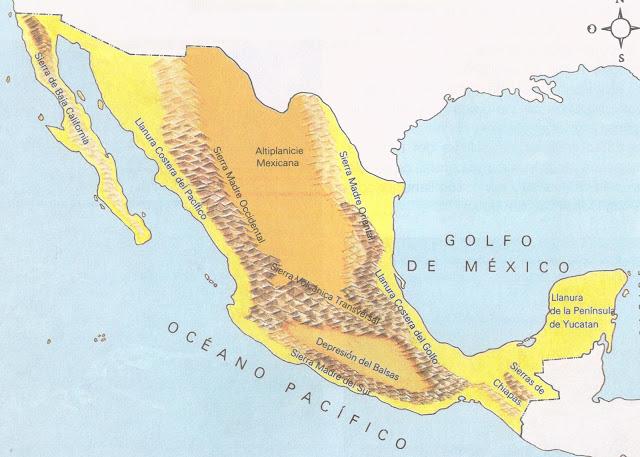 Relieve de México.
