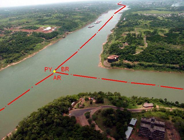Triple Frontera Países Argentina Paraguay Brasil