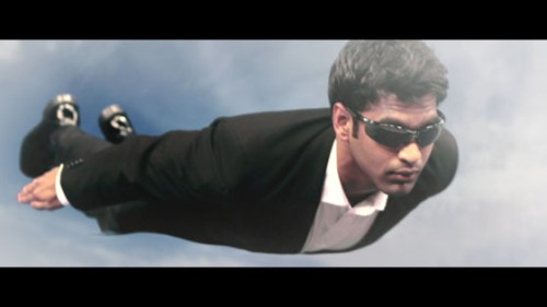 Lance flying like superman