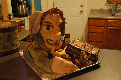 D&D Dungeon Master Effigy Cake