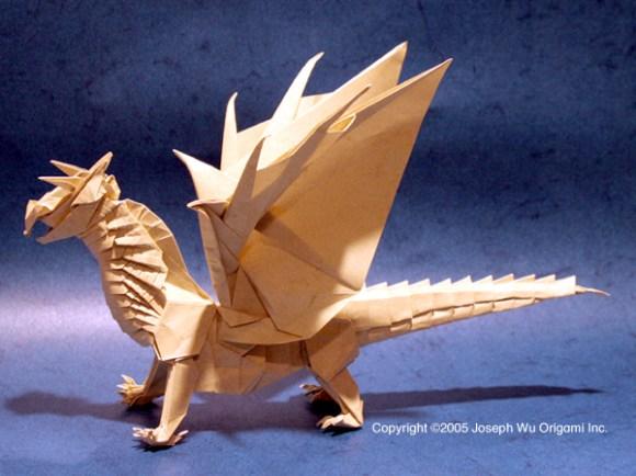 Origami Dragon - Fantasy Gaming Miniature by Joseph Wu