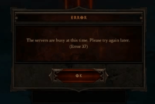 Diablo 3 Error 37: Epic Fail