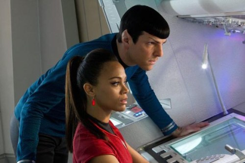 star trek into darkness spock and uhura