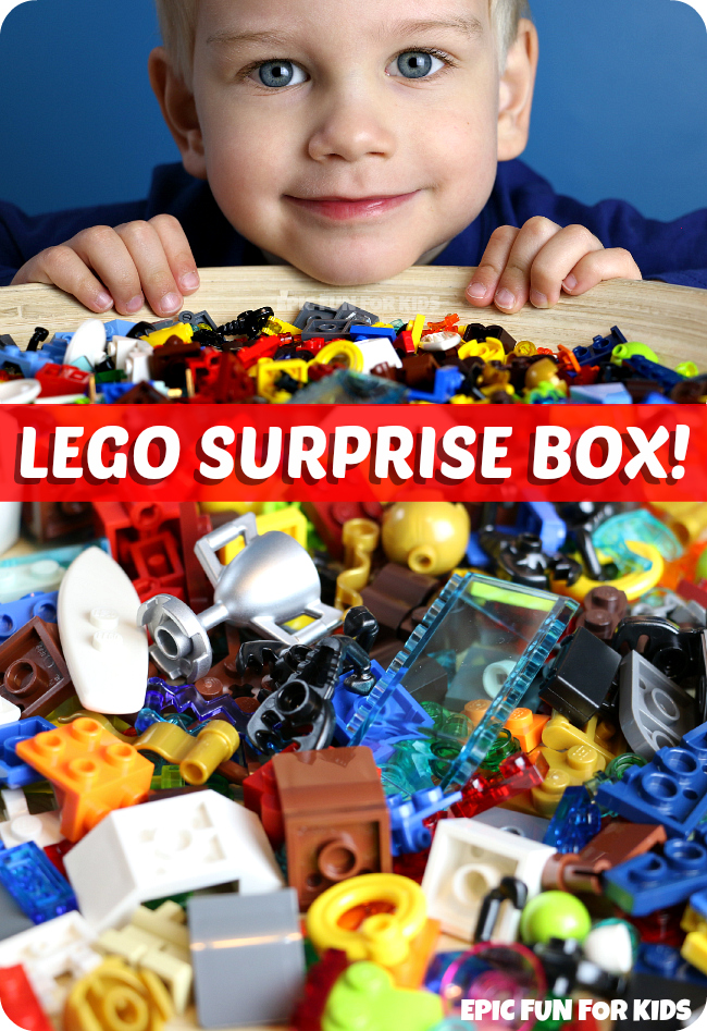 LEGO Surprise Box  Inspiring Creative Lego Building   Epic Fun for Kids LEGO Suprise Box    a fun way to inspire your child s creativity with Lego  building