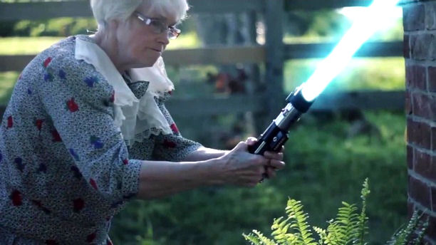 star wars jedi grandma lol