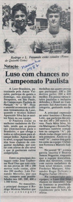 Jornal da Cidade - Bauru 1987