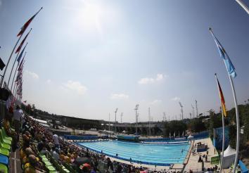A piscina do Complexo Olímpico de Deodoro (foto do site oficial)