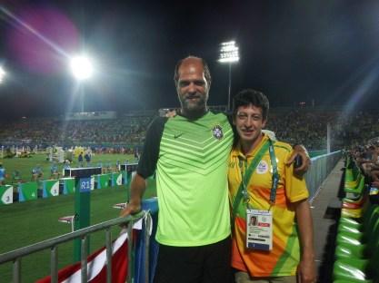 Sergio Rossa, voluntário do Pentatlo e amigo nadador peba.